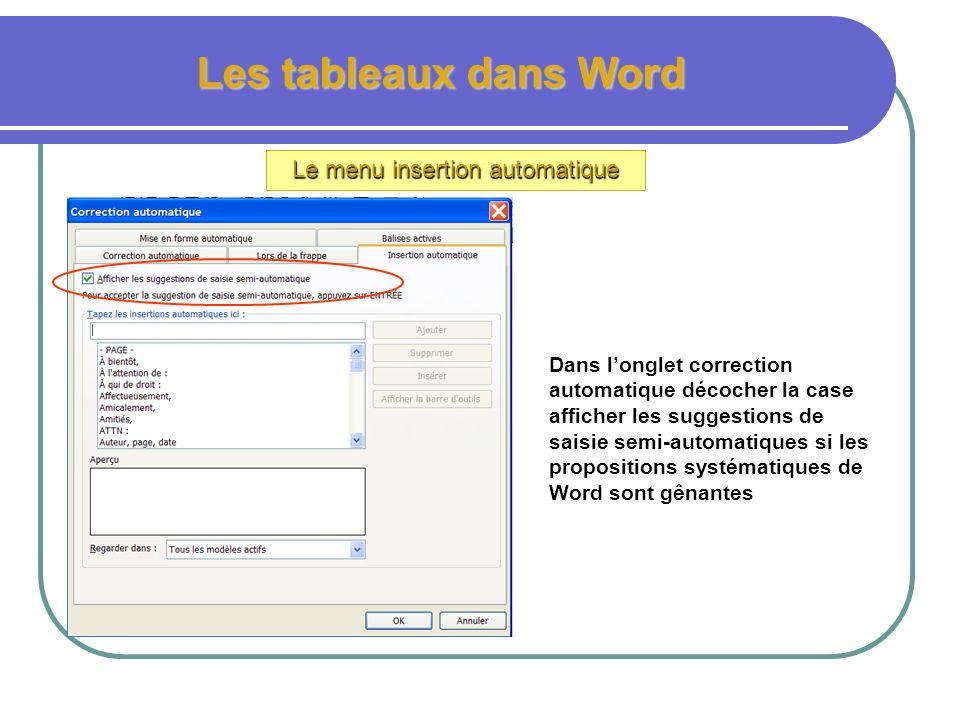 Les champs et insertions automatiques Créer ses propres insertions automatiques 1.Ouvrir un nouveau document Word 2.Taper le texte suivant « portez ce