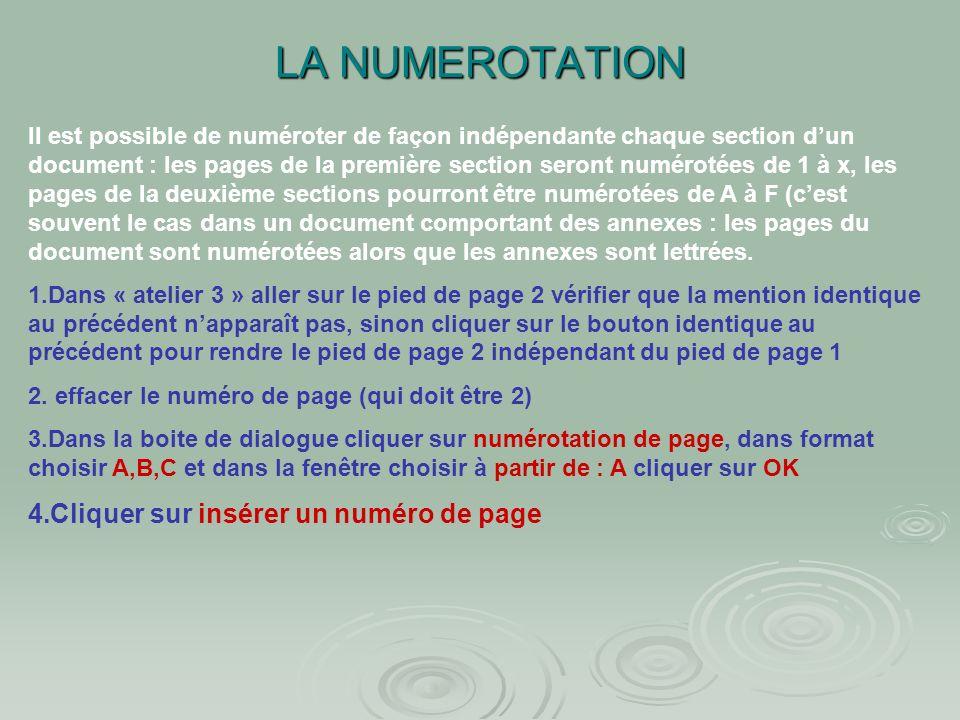 Atelier N°3 : La mise en page Modifier le titre en « bulletin » Modifier le titre en « bulletin » Vérifier sur la page précédente que le titre « infor