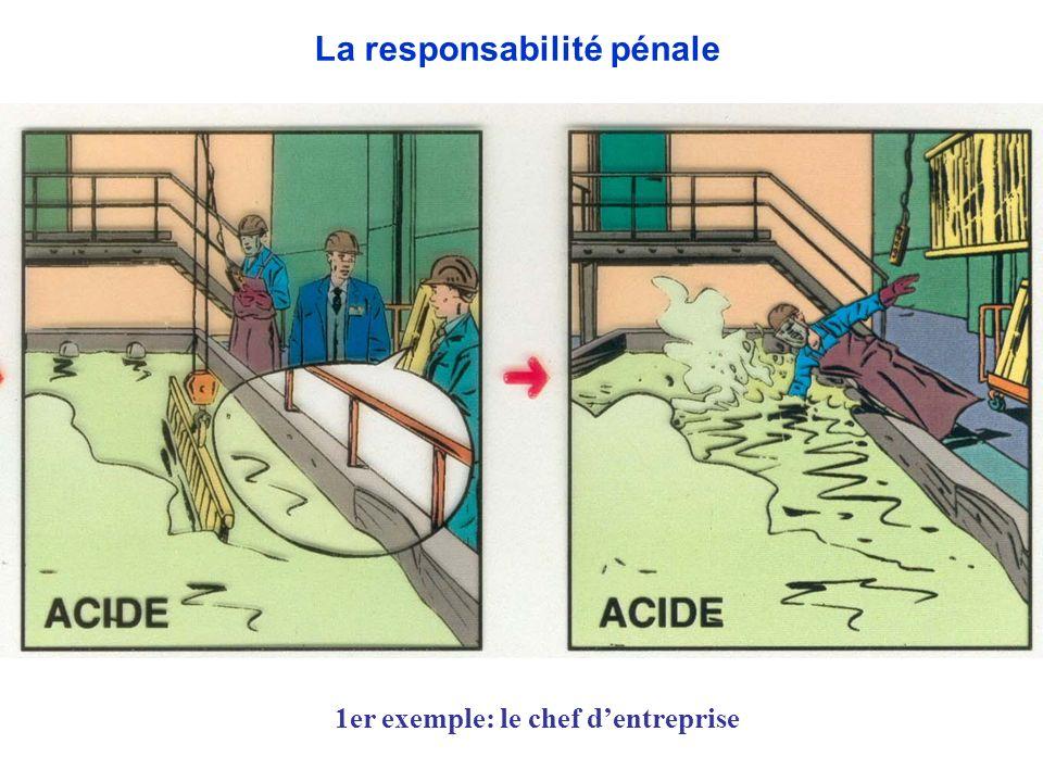 1er exemple: le chef dentreprise La responsabilité pénale