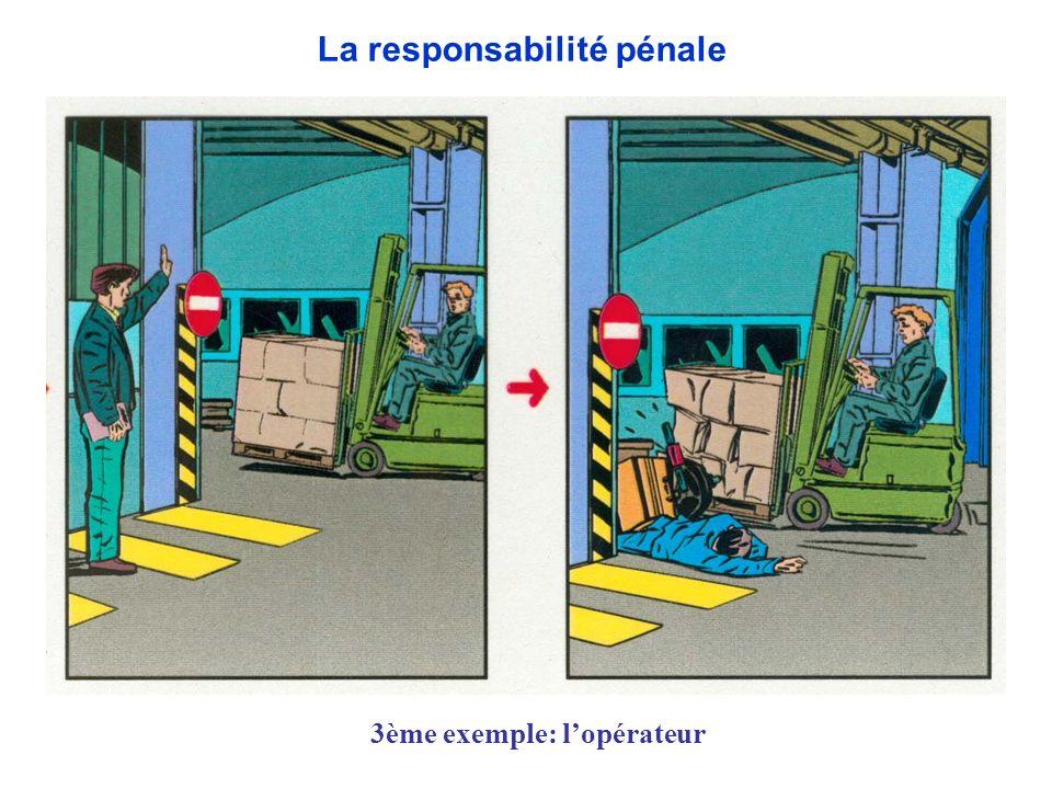 3ème exemple: lopérateur La responsabilité pénale