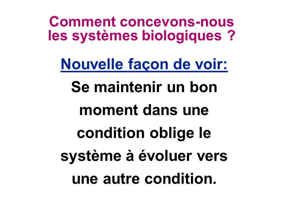 Comment concevons-nous les systèmes biologiques .