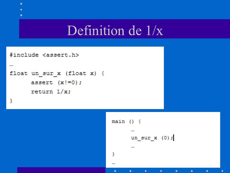 Definition de 1/x