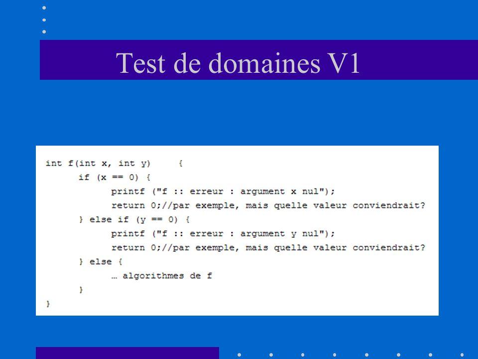 Test de domaines V1