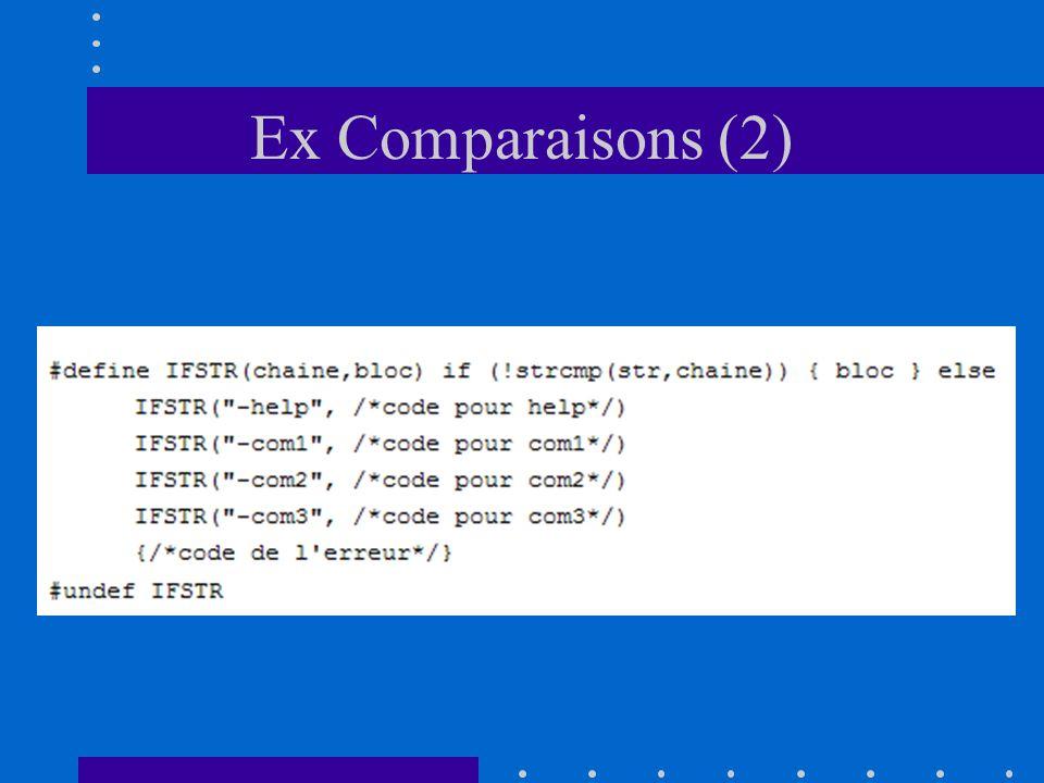 Ex Comparaisons (2)