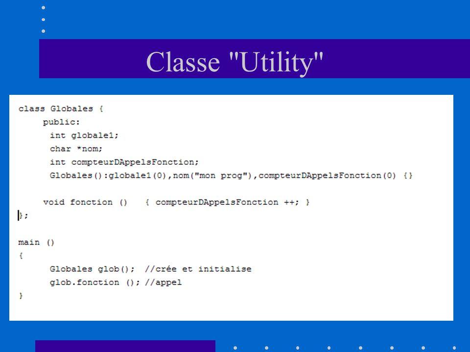 Classe Utility