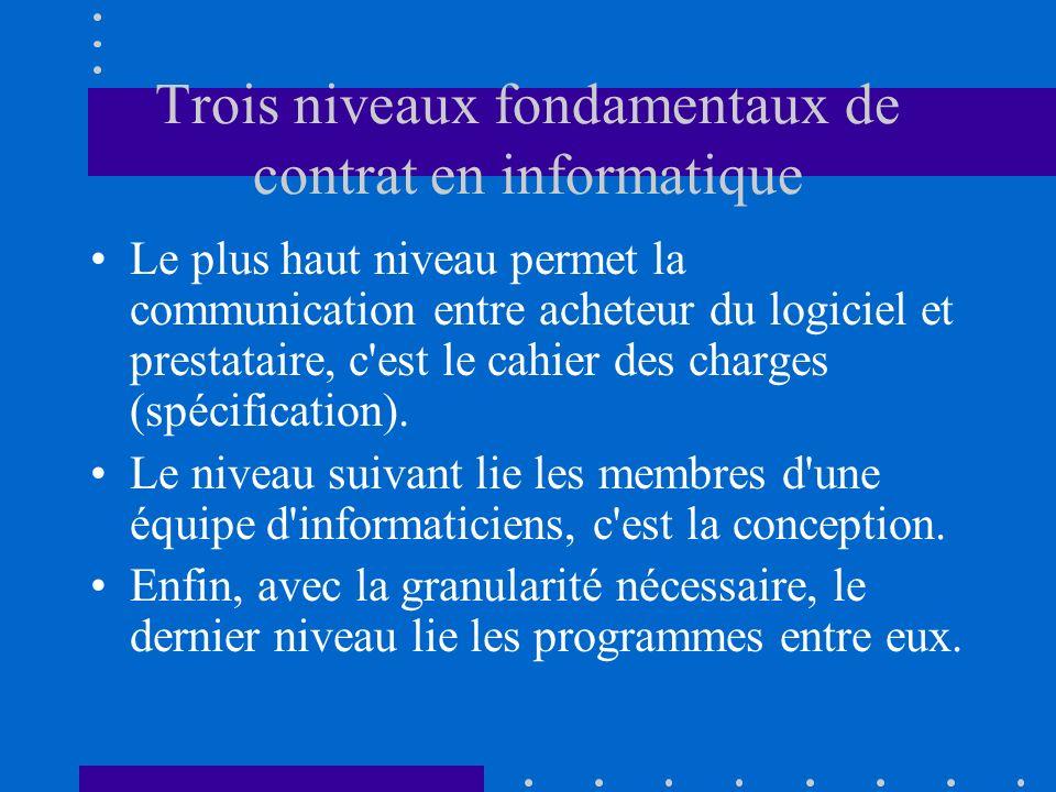 Traduction technique Aucune fonction ne doit s attendre à gérer un cas ou un autre élément de programme fournirait des données incorrectes.
