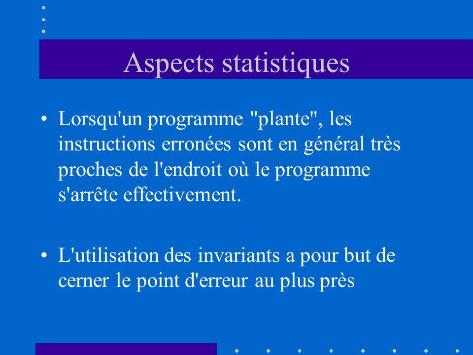 Aspects statistiques Lorsqu'un programme