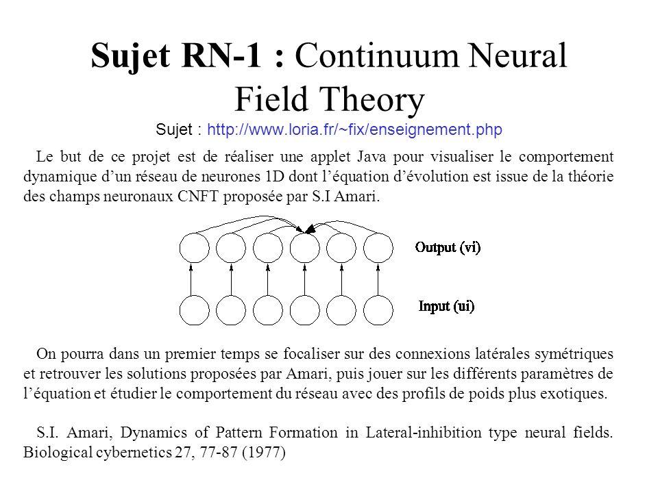 Sujet RN-2 : Conditionnement Pavlovien, Rescorla-Wagner Sujet : http://www.loria.fr/~fix/enseignement.php Le but de ce projet est de réaliser une applet Java simulant le modèle de Rescorla Wagner pour le conditionnement Pavlovien.