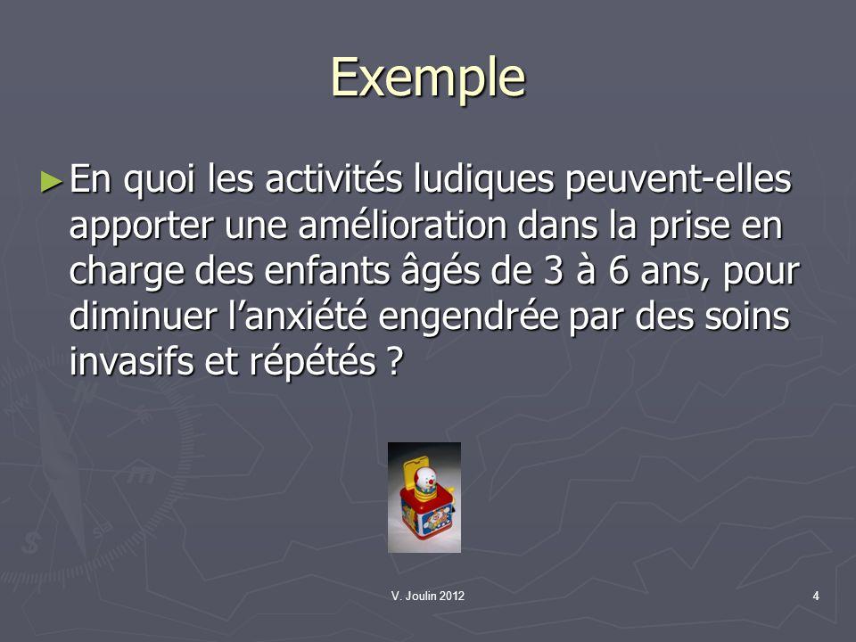 V.Joulin 20125 L exploration Lexploration est un processus.