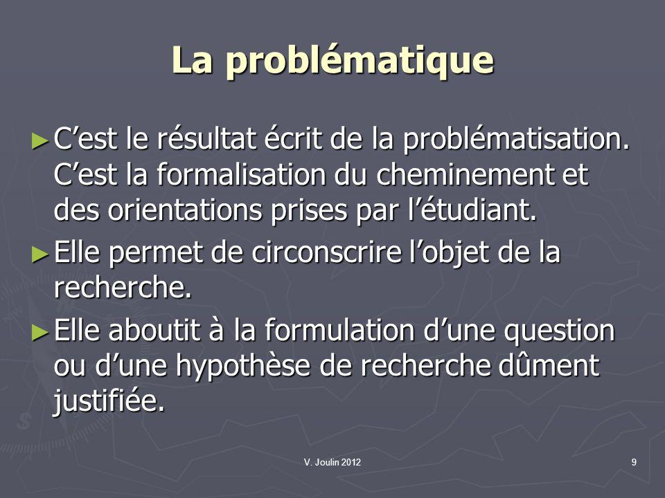 V. Joulin 201210 Le cadre de références A propos de la terminologie A propos de la terminologie