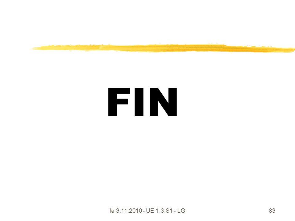 le 3.11.2010 - UE 1.3.S1 - LG83 FIN