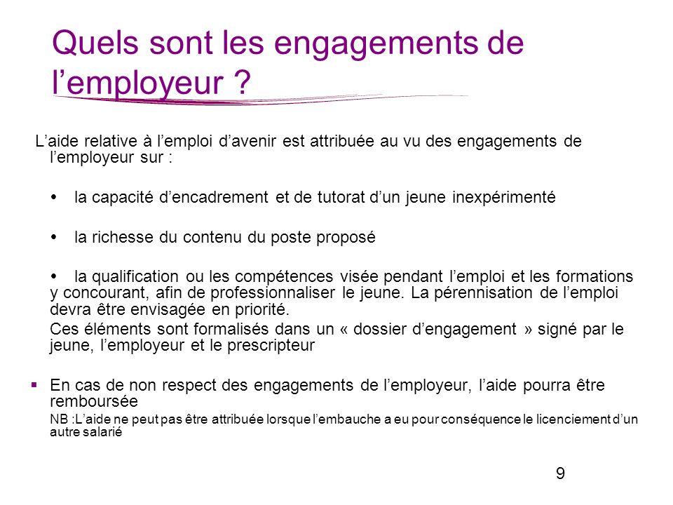 Quels interlocuteurs sur le département pour recruter un emploi davenir ?
