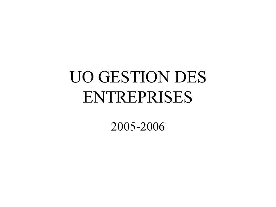 UO GESTION DES ENTREPRISES 2005-2006