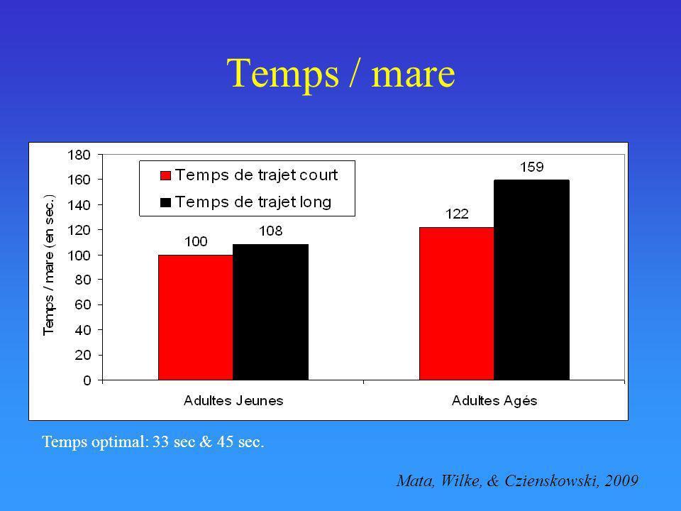 Temps / mare Temps optimal: 33 sec & 45 sec. Mata, Wilke, & Czienskowski, 2009