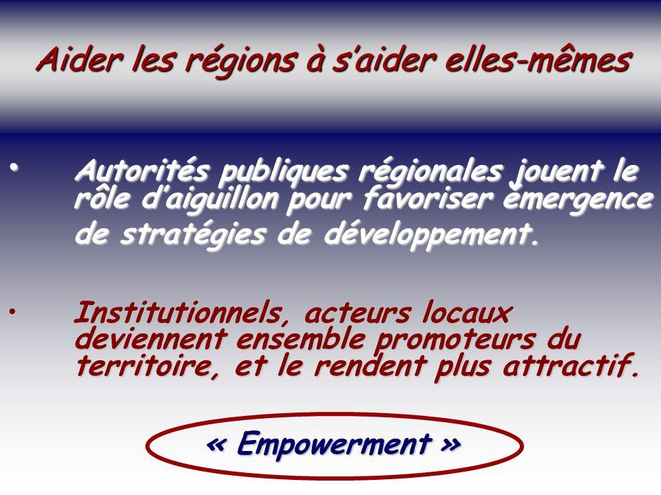 SOCIETE DE LA CONNAISSANCE Jean-Marie ROUSSEAU PARIS - REPERES 3/06/2002 6PRFR 16 Politique régionale Autorités publiques régionales jouent le rôle daiguillon pour favoriser émergence Autorités publiques régionales jouent le rôle daiguillon pour favoriser émergence de stratégies de développement.