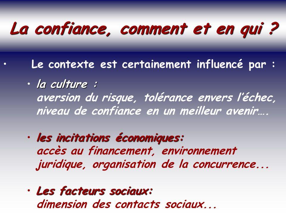 SOCIETE DE LA CONNAISSANCE Jean-Marie ROUSSEAU PARIS - REPERES 3/06/2002 6PRFR 28 Politique régionale La confiance, comment et en qui .