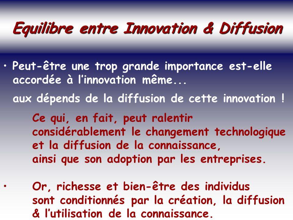 SOCIETE DE LA CONNAISSANCE Jean-Marie ROUSSEAU PARIS - REPERES 3/06/2002 6PRFR 33 Politique régionale Equilibre entre Innovation & Diffusion Equilibre entre Innovation & Diffusion Peut-être une trop grande importance est-elle accordée à linnovation même...