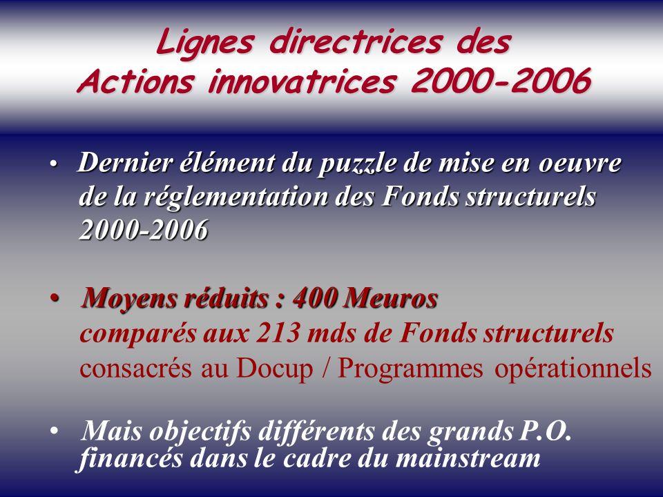 SOCIETE DE LA CONNAISSANCE Jean-Marie ROUSSEAU PARIS - REPERES 3/06/2002 6PRFR 39 Politique régionale Dernier élément du puzzle de mise en oeuvre Dernier élément du puzzle de mise en oeuvre de la réglementation des Fonds structurels de la réglementation des Fonds structurels 2000-2006 2000-2006 Moyens réduits : 400 Meuros Moyens réduits : 400 Meuros comparés aux 213 mds de Fonds structurels consacrés au Docup / Programmes opérationnels Mais objectifs différents des grands P.O.