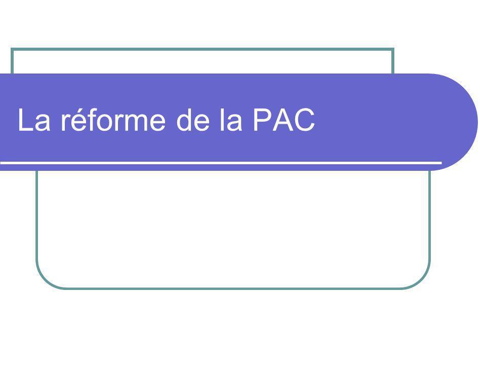La réforme de la PAC