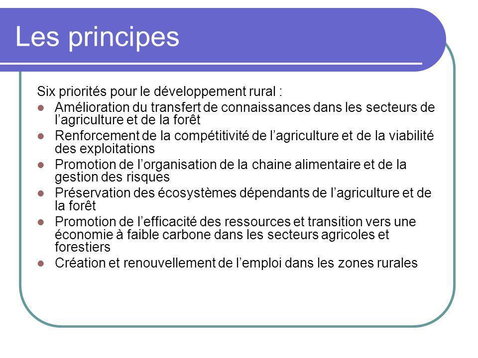 Les principes Six priorités pour le développement rural : Amélioration du transfert de connaissances dans les secteurs de lagriculture et de la forêt