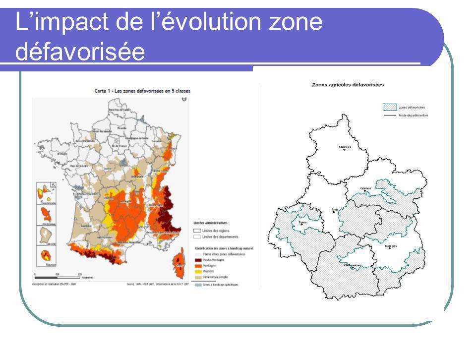 Limpact de lévolution zone défavorisée