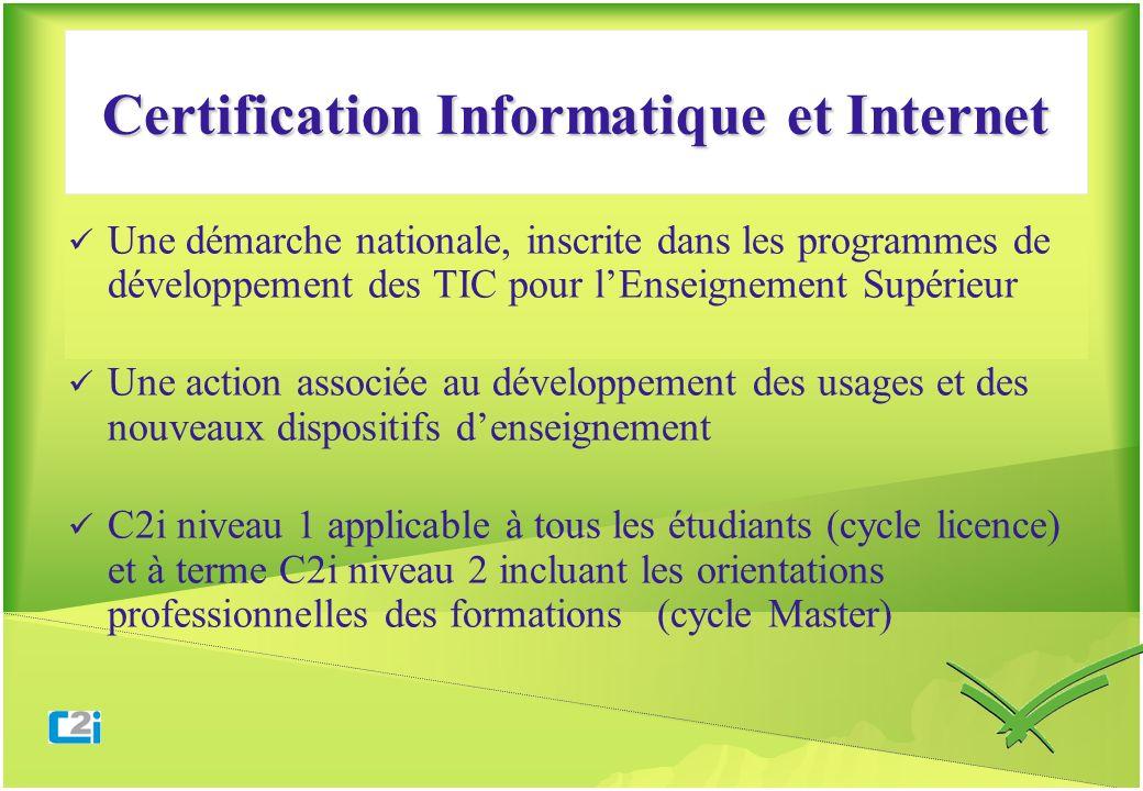 Une démarche nationale, inscrite dans les programmes de développement des TIC pour lEnseignement Supérieur Une action associée au développement des us