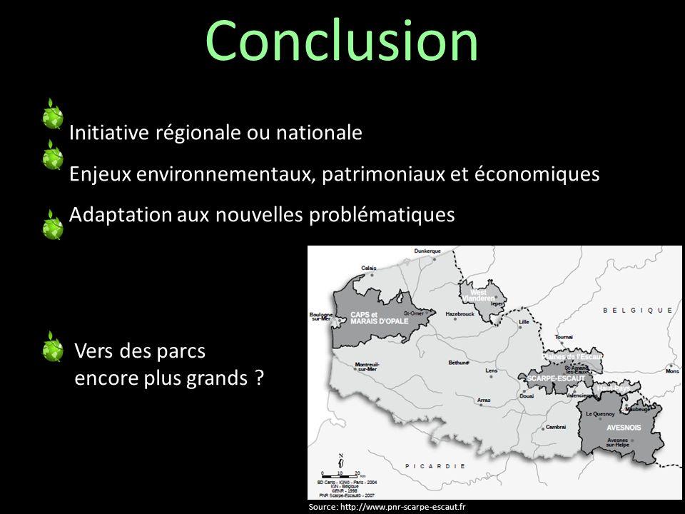 Conclusion Initiative régionale ou nationale k Enjeux environnementaux, patrimoniaux et économiques y Adaptation aux nouvelles problématiques Vers des
