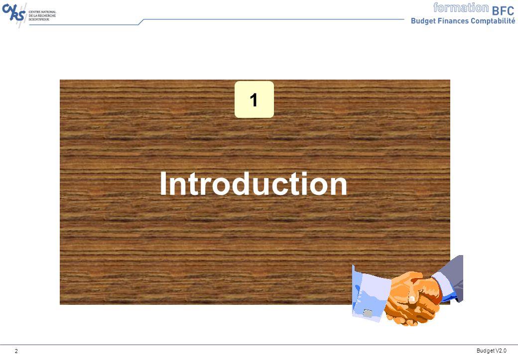 Budget V2.0 13 Principes de navigation Principes de navigation dans les tableaux de bord : Rappels n Exemple de groupe : SDV