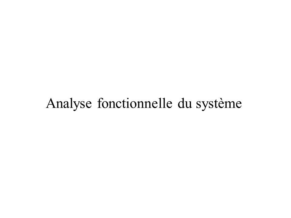 Analyse fonctionnelle du système