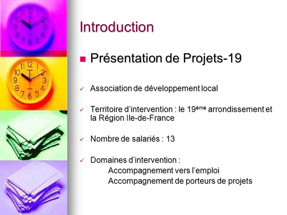 Introduction Présentation de Projets-19 Présentation de Projets-19 Association de développement local Association de développement local Territoire di