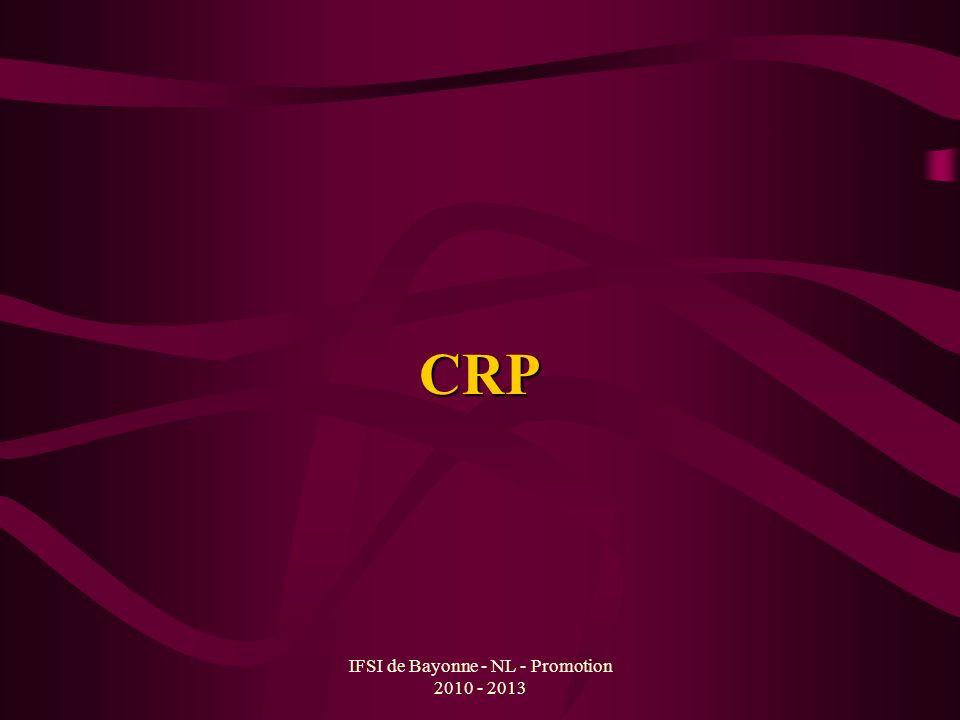 IFSI de Bayonne - NL - Promotion 2010 - 2013 CRP