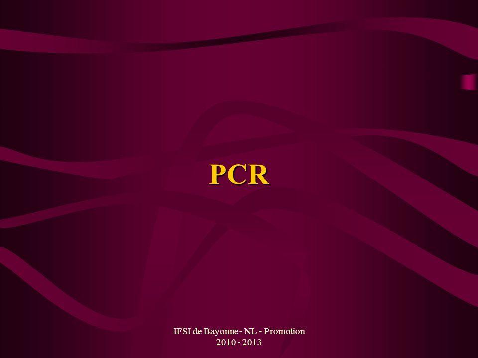 IFSI de Bayonne - NL - Promotion 2010 - 2013 PCR