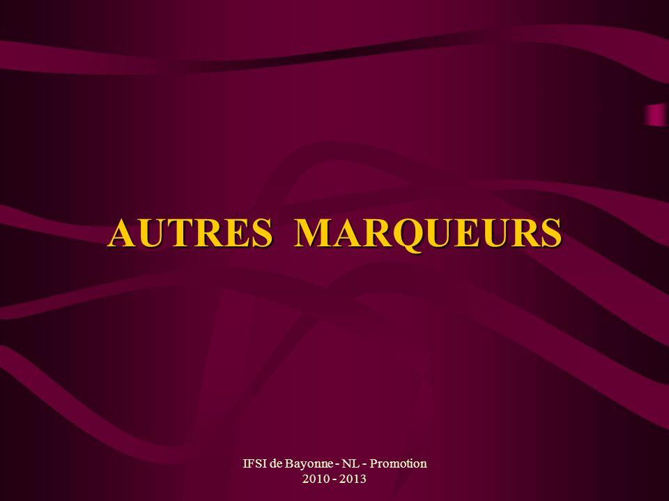 IFSI de Bayonne - NL - Promotion 2010 - 2013 AUTRES MARQUEURS