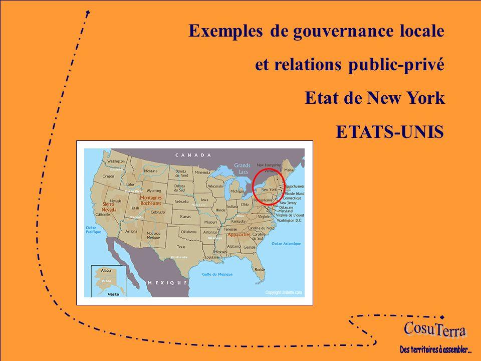 Exemples de gouvernance locale et relations public-privé Etat de New York ETATS-UNIS