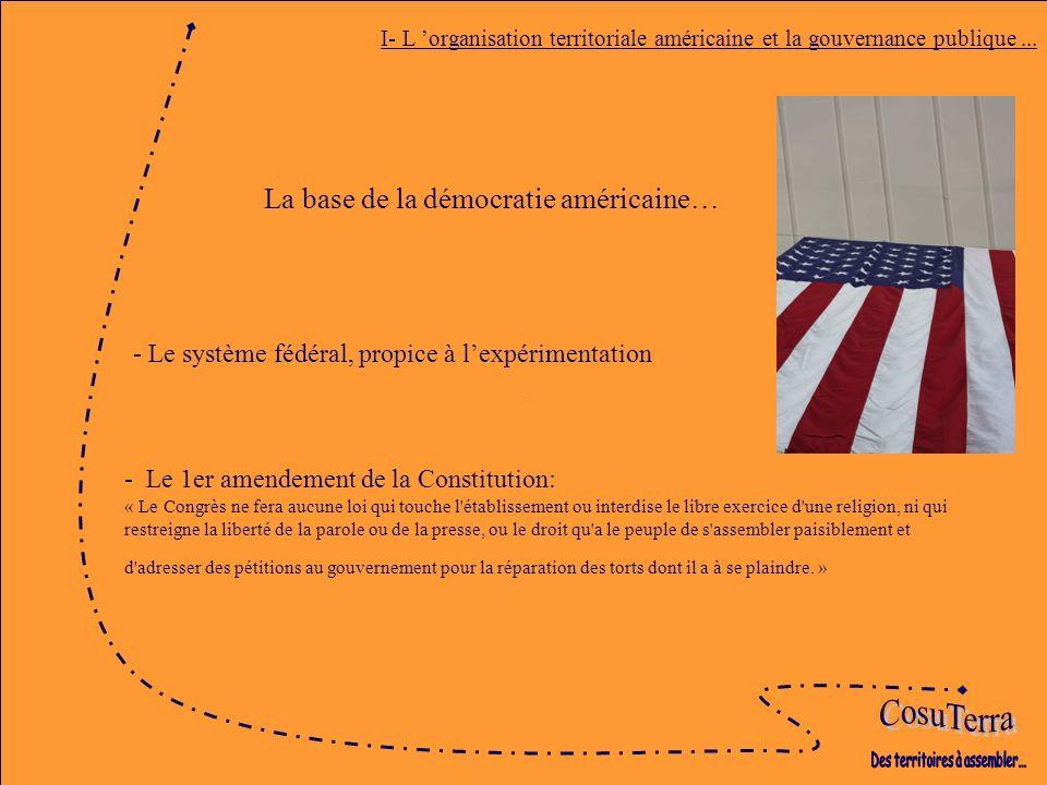 I- L organisation territoriale américaine et la gouvernance publique...