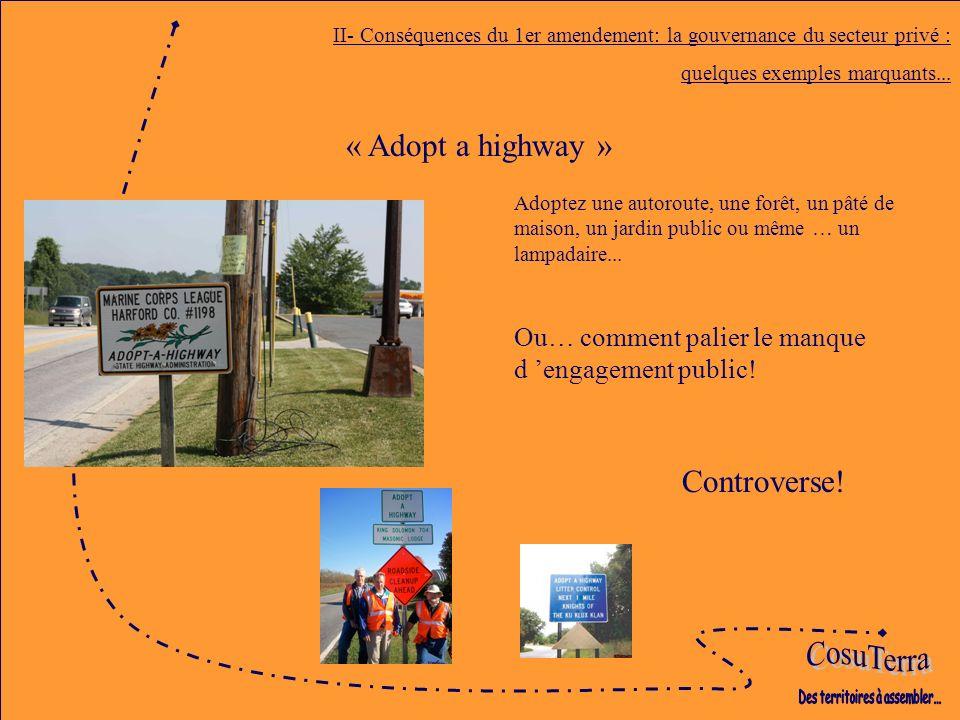 Adoptez une autoroute, une forêt, un pâté de maison, un jardin public ou même … un lampadaire...