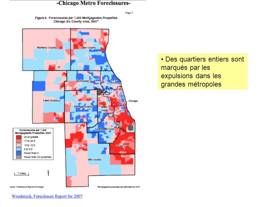 Des quartiers entiers sont marqués par les expulsions dans les grandes métropoles