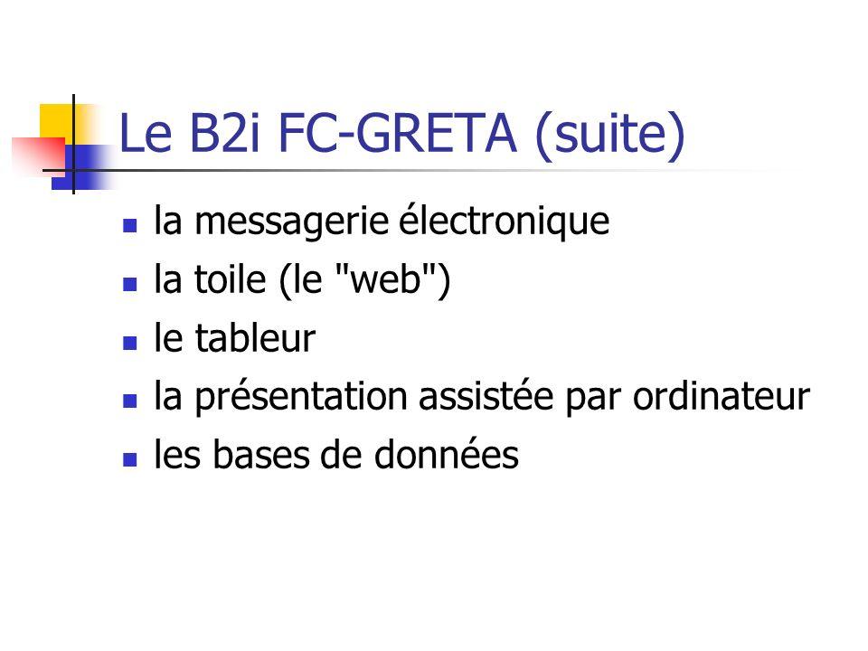 Le B2i FC-GRETA (suite) la messagerie électronique la toile (le