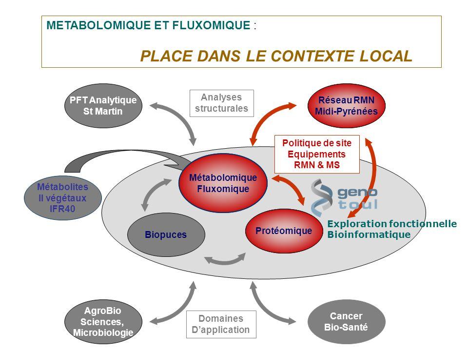 Protéomique Biopuces Exploration fonctionnelle Bioinformatique Réseau RMN Midi-Pyrénées PFT Analytique St Martin Analyses structurales Cancer Bio-Sant
