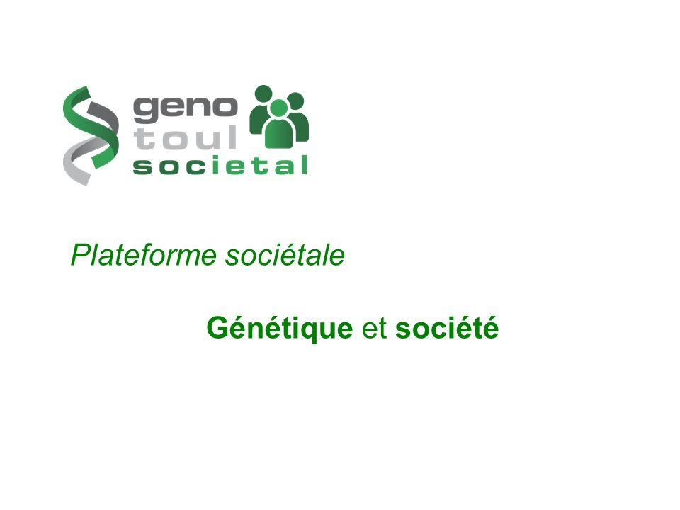 Plateforme sociétale Génétique et société