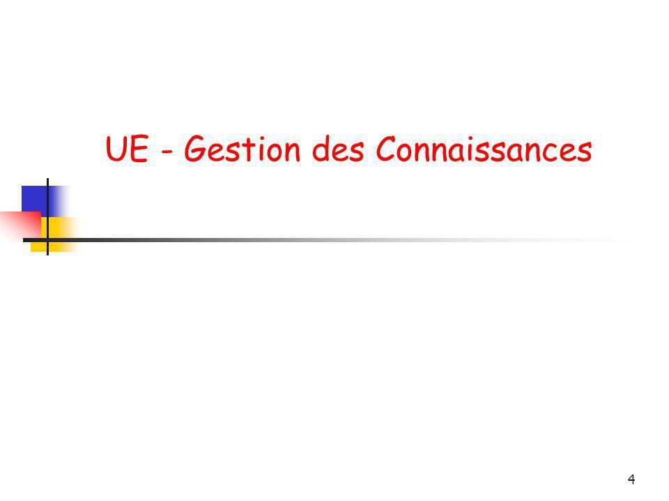 4 UE - Gestion des Connaissances