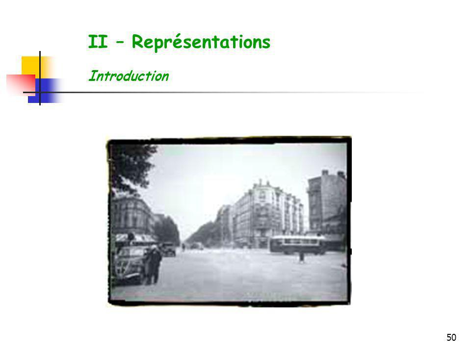 50 II – Représentations Introduction