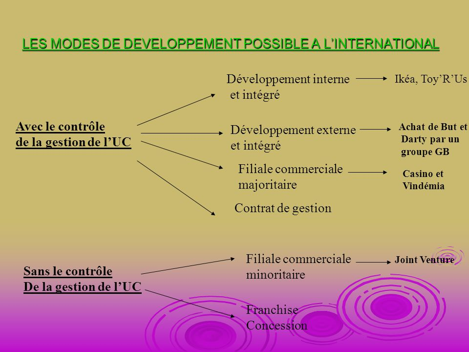 LES STRATEGIES DE DEVELOPPEMENT SANS IMPLANTATION DE NOUVEAUX POINTS DE VENTE QUELLES STRATEGIES .