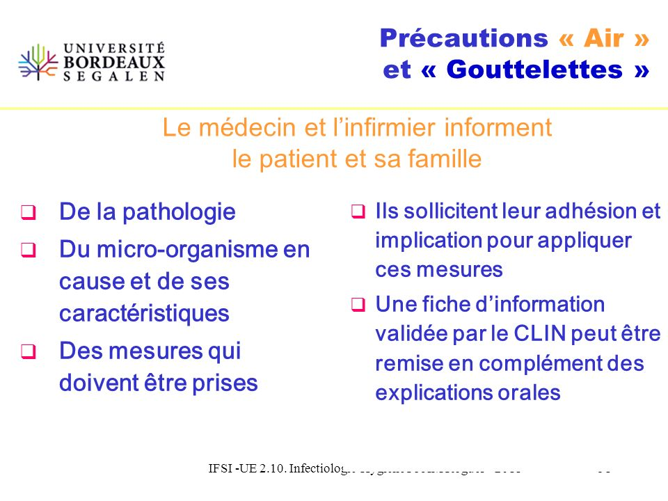 IFSI -UE 2.10. Infectiologie-Hygiene Pr AM Rogues - 201150