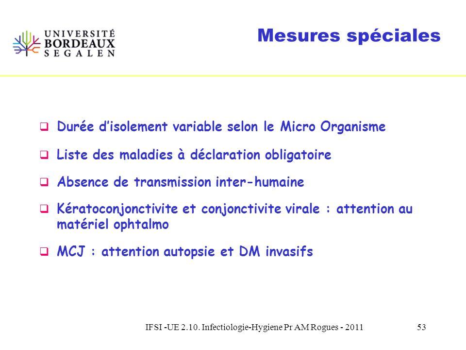 IFSI -UE 2.10. Infectiologie-Hygiene Pr AM Rogues - 201152