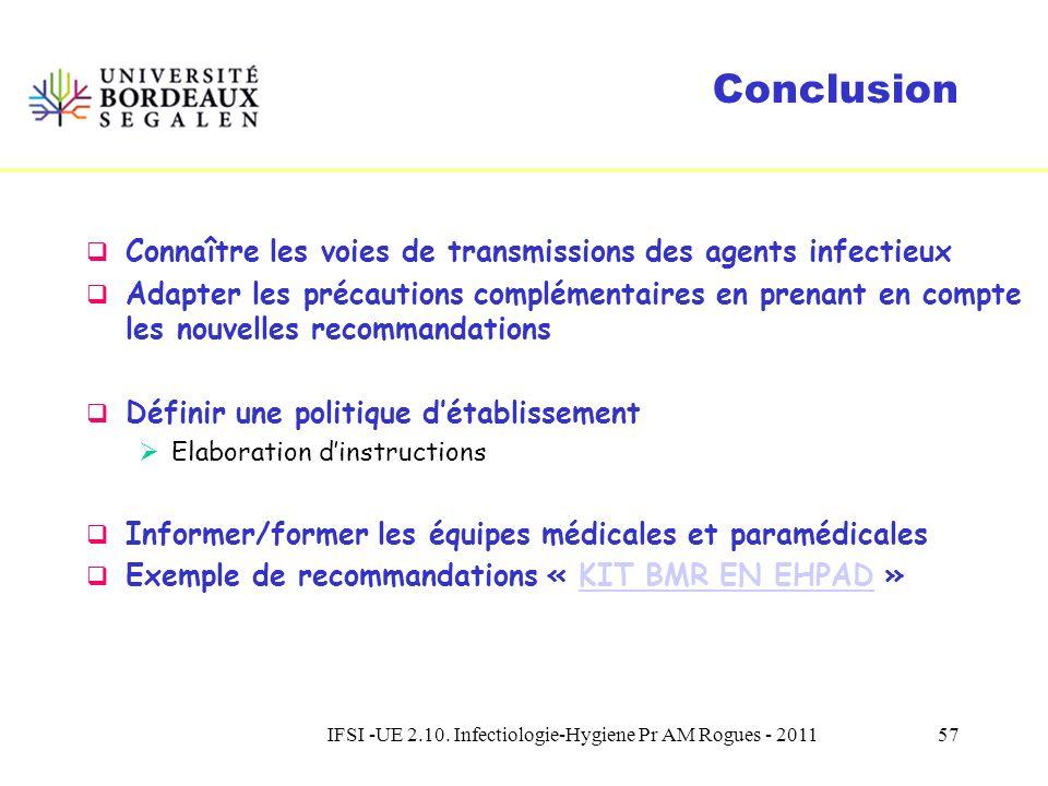 IFSI -UE 2.10. Infectiologie-Hygiene Pr AM Rogues - 201156 Précautions complémentaires Difficultés (2) Respect des recommandations, Gestion de interru