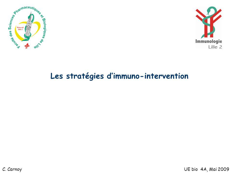 Les stratégies dimmuno-intervention UE bio 4A, Mai 2009C. Carnoy
