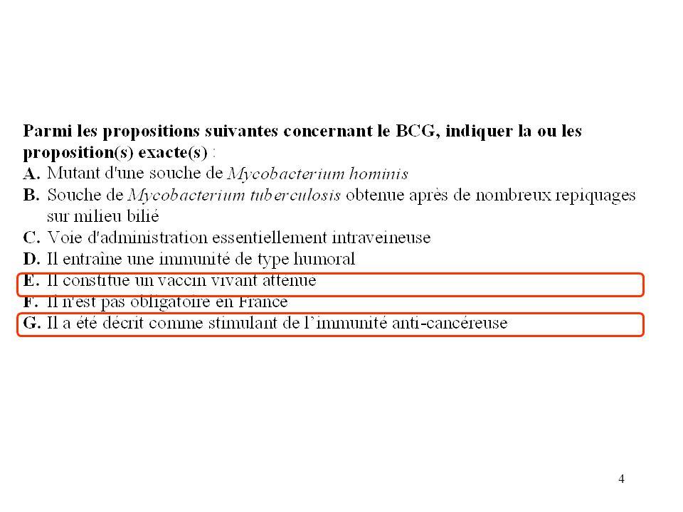 35 Question 5: Le PREVENAR A est un vaccin meningococcique B est un vaccin heptavalent C est un vaccin conjugué D induisant une réponse thymodépendante E préconisé chez les adolescents