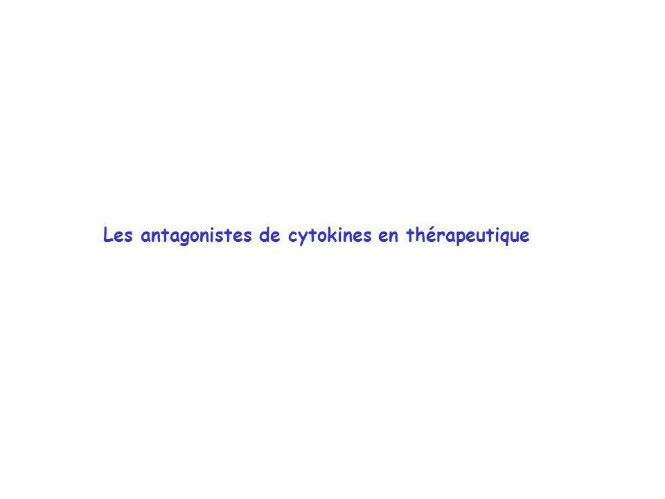 Les antagonistes de cytokines en thérapeutique