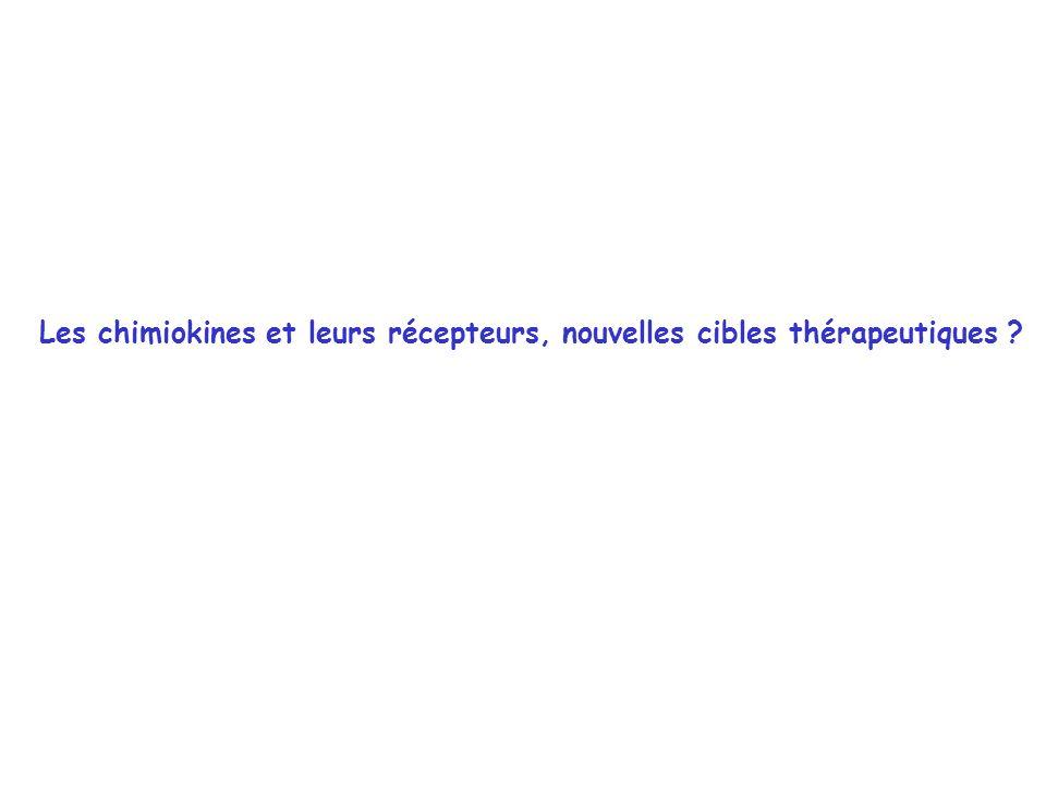 Les chimiokines et leurs récepteurs, nouvelles cibles thérapeutiques ?